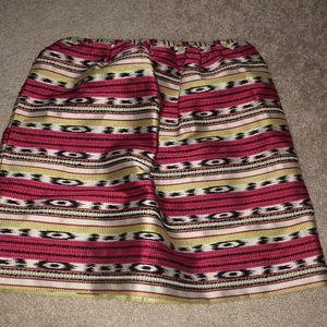 Carven 36 Navajo print skirt